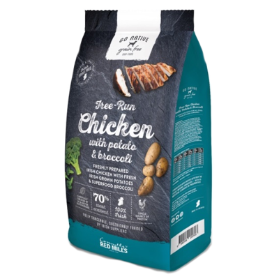 go native chicken high meat content grain free dog food with chicken, potato and broccoli suitable for hypoallergenic dogs