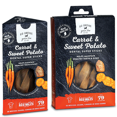 red mills go native dental sticks healthy grain free high meat content dental sticks with carrot and sweet potato