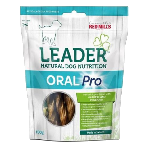 connolly's red mills leader natural dog nutrition oral pro gluten free dental sticks with no added artificial colours and sugars for dental health