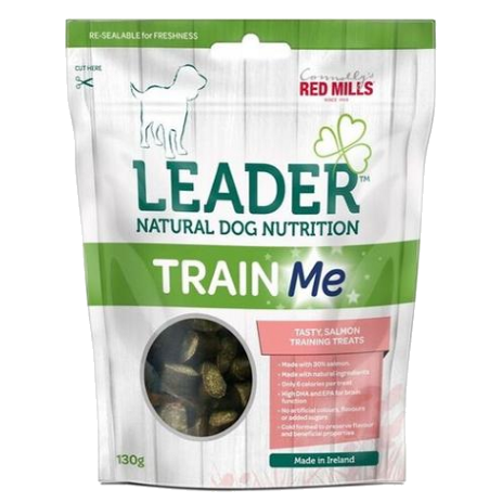 red mills leader natural dog nutrition train me training treats with salmon