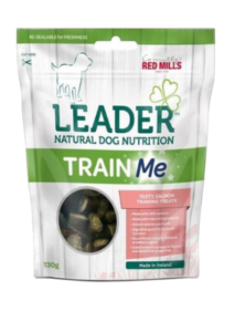 Leader train me salmon flavour natural dog nutrition dog treats food