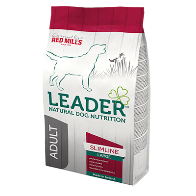 leader adult slimline large breed natural dog nutrition dog food that fights obesity in dogs
