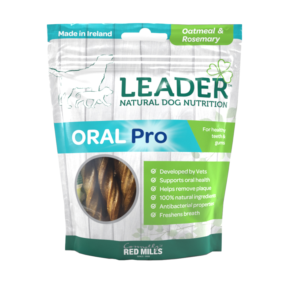 leader oral pro dental sticks oatmeal and rosemary flavour